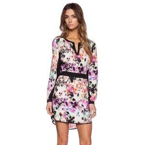 PARKER Alfie Combo Silk Dress in Oasis